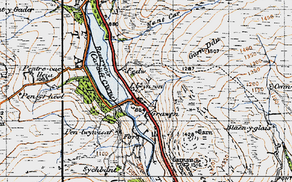 Old map of Afon Taf Fawr in 1947