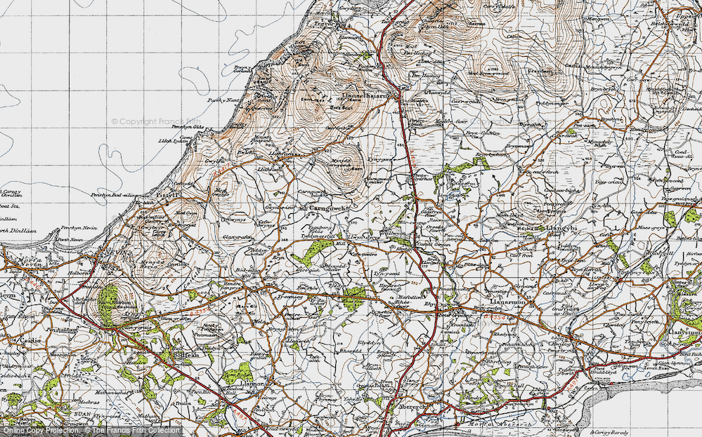 Old Map of Historic Map covering Ysgubor Plas in 1947