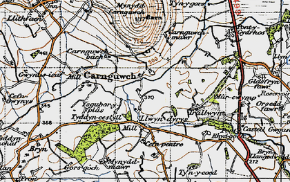 Old map of Ysgubor Plas in 1947
