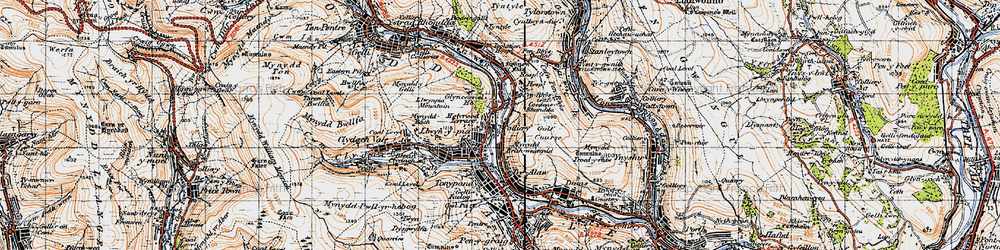 Old map of Llwynypia in 1947