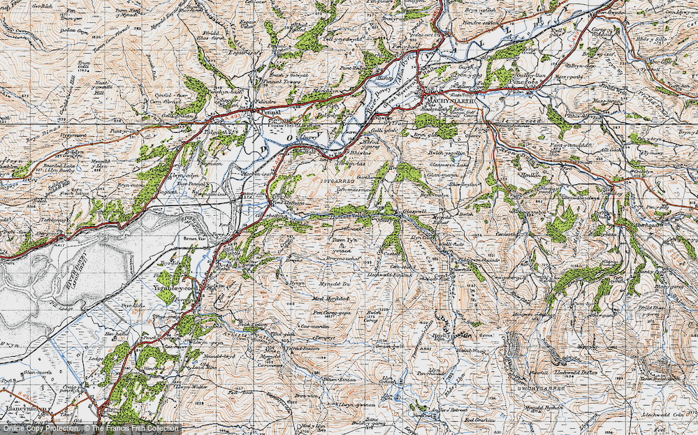Old Map of Llyfnant Valley, 1947 in 1947