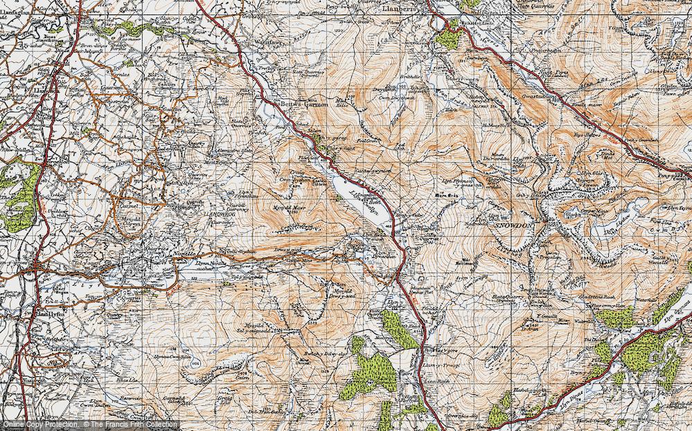 Old Map of Llyn Cwellyn, 1947 in 1947