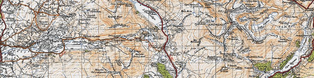 Old map of Afon Treweunydd in 1947