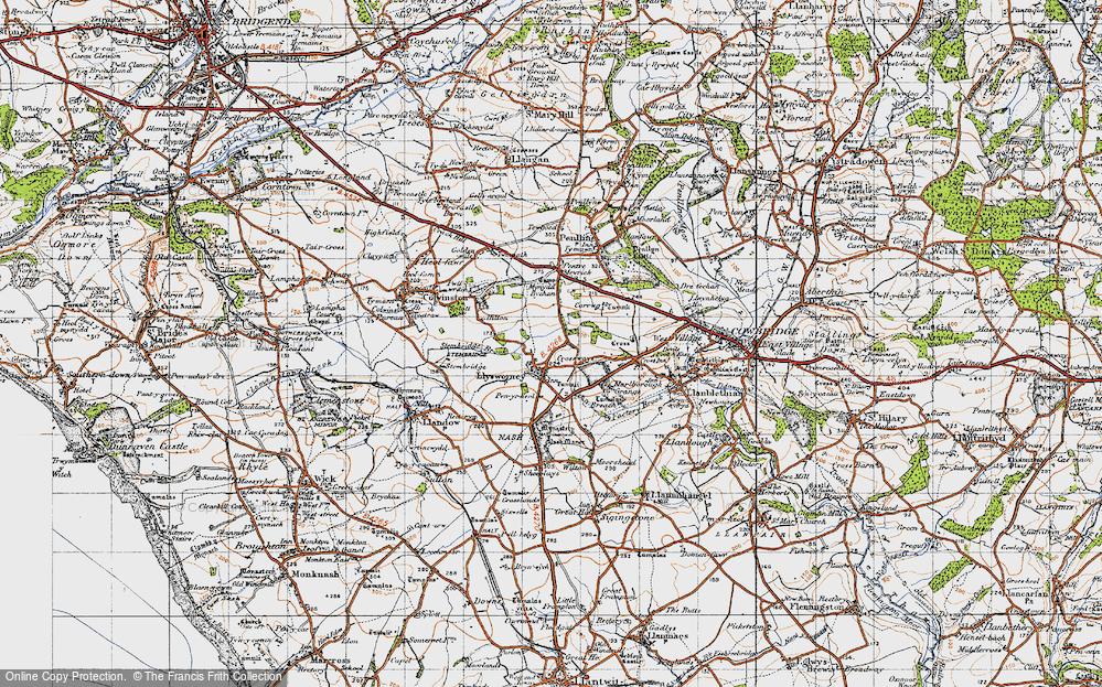 Old Map of Llysworney, 1947 in 1947