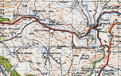 Old map of Banc Creignant Mawr in 1947
