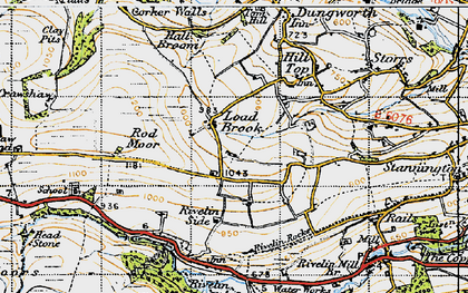 Old map of Ash Cabin Flat in 1947