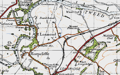 Old map of Lilliestead in 1947