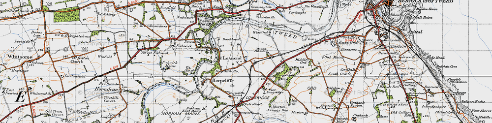 Old map of West Ord in 1947