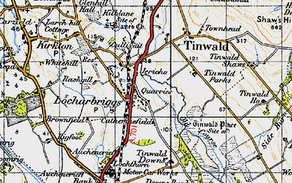Old map of Tinwald Parks in 1947