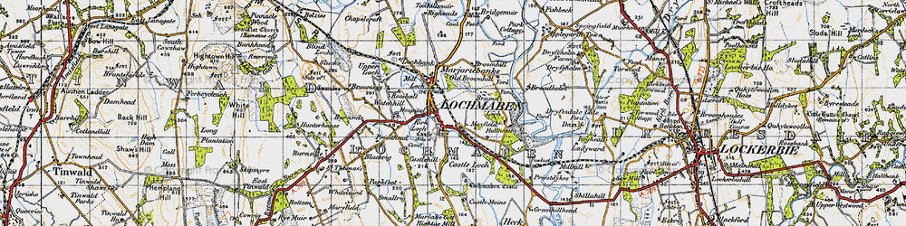 Old map of Whitelaird in 1947
