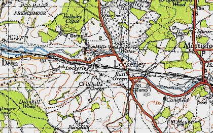 Old map of Lockerley in 1940