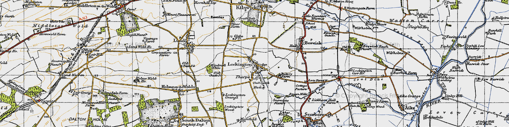 Old map of Windmill Whin in 1947