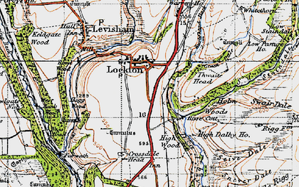 Old map of Adderstone Rigg in 1947