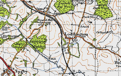 Old map of Withcote Lodge in 1946