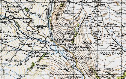 Old map of Lofthouse in 1947