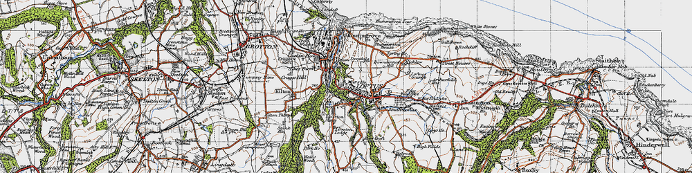 Old map of Loftus in 1947