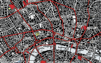 Old map of London in 1946