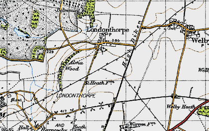 Old map of Alma Wood in 1946