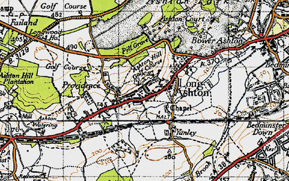 Old map of Ashton Hill in 1946