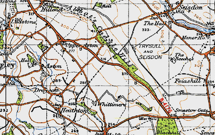 Old map of Abbot's Castle Hill in 1946