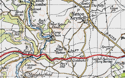 Old map of West Yatton Down in 1946