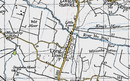 Old map of Witcombe Bottom in 1945