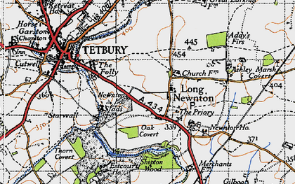Old map of Addy's Firs in 1946