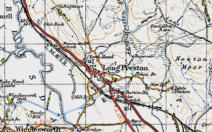 Old map of Long Preston in 1947