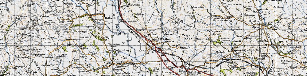 Old map of Wild Share in 1947