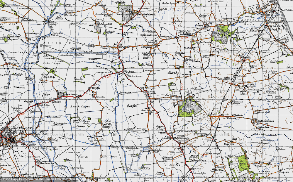 Old Map of Long Riston, 1947 in 1947