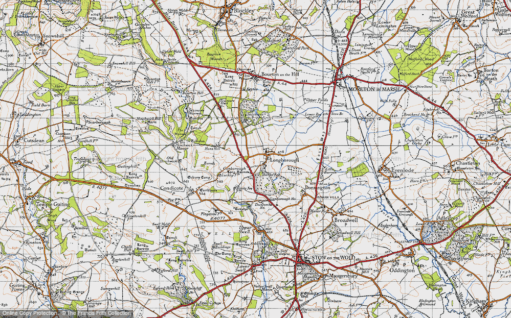 Old Map of Historic Map covering Banks Fee in 1946