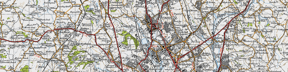 Old map of Westport Lake in 1946