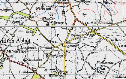 Old map of Willestrew Park in 1946