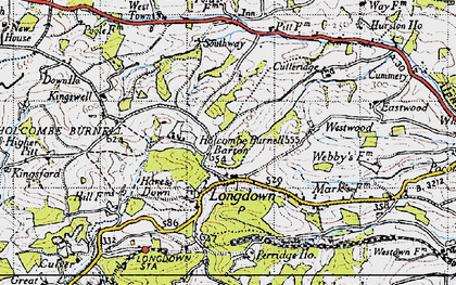 Old map of Westwood in 1946