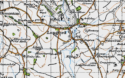 Old map of Bailey's Close in 1946