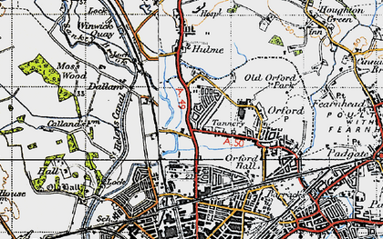 Old map of Longford in 1947