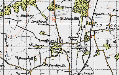 Old map of Longhirst in 1947