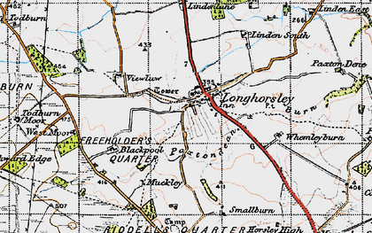 Old map of Linden Hill Head in 1947
