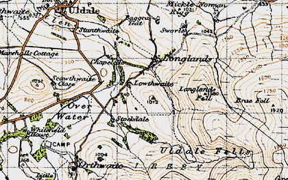 Old map of Baggra Yeat in 1947