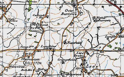 Old map of Longlane in 1946