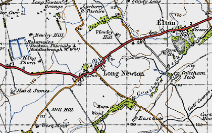 Old map of Larberry Pastures in 1947