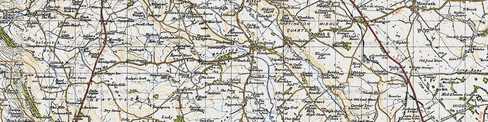 Old map of Longnor in 1947