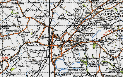Old map of Ashley Hall in 1947