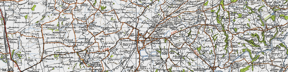 Old map of Alston Lodge in 1947