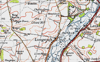 Old map of Atners Towers in 1945