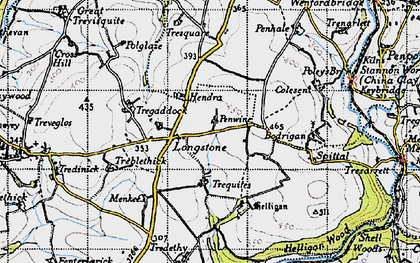 Old map of Longstone in 1946