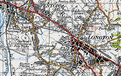 Old map of Longton in 1946