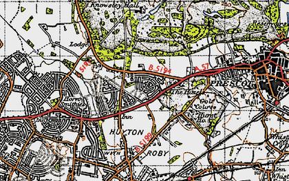 Old map of Longview in 1947