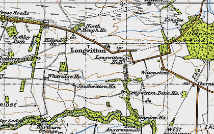 Old map of Whitridge in 1947