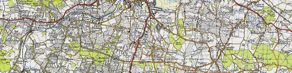 Old map of Loose in 1940